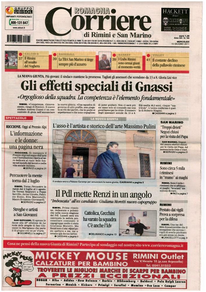 Corriere di Romagna del 16 giugno 2011
