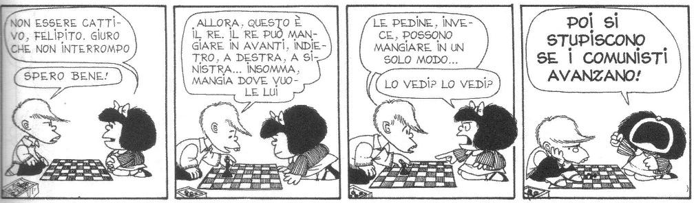 Mafalda e gli scacchi