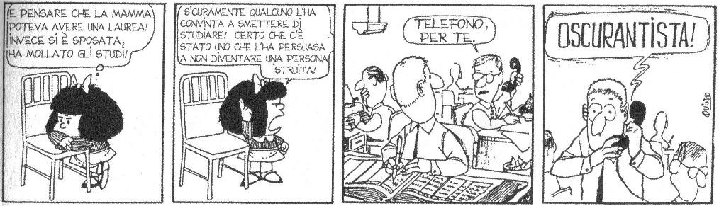 Le pari opportunità secondo Mafalda