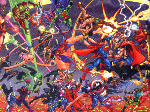 JLA vs Avengers (by George Perez)