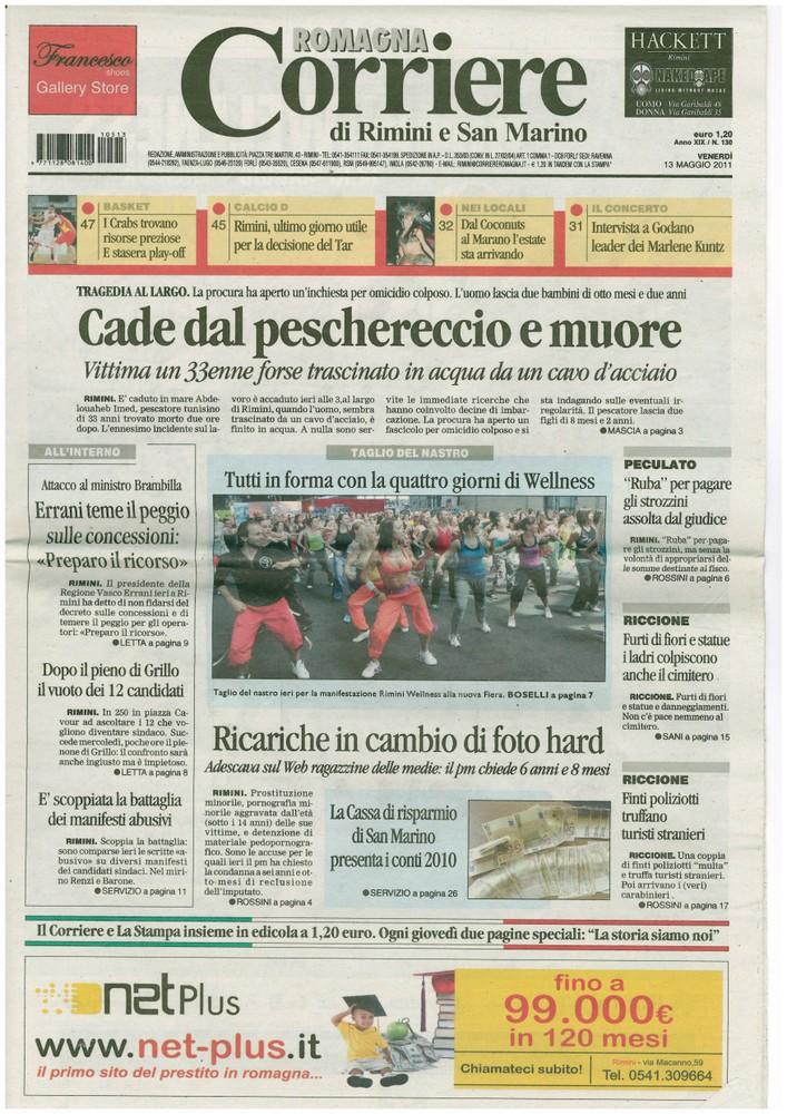 Corriere 2011.05.13 Copertina