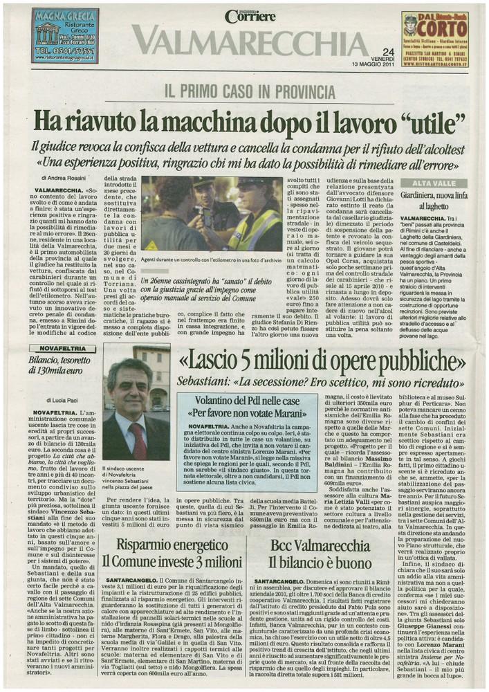 Corriere 2011.05.13 Pagina