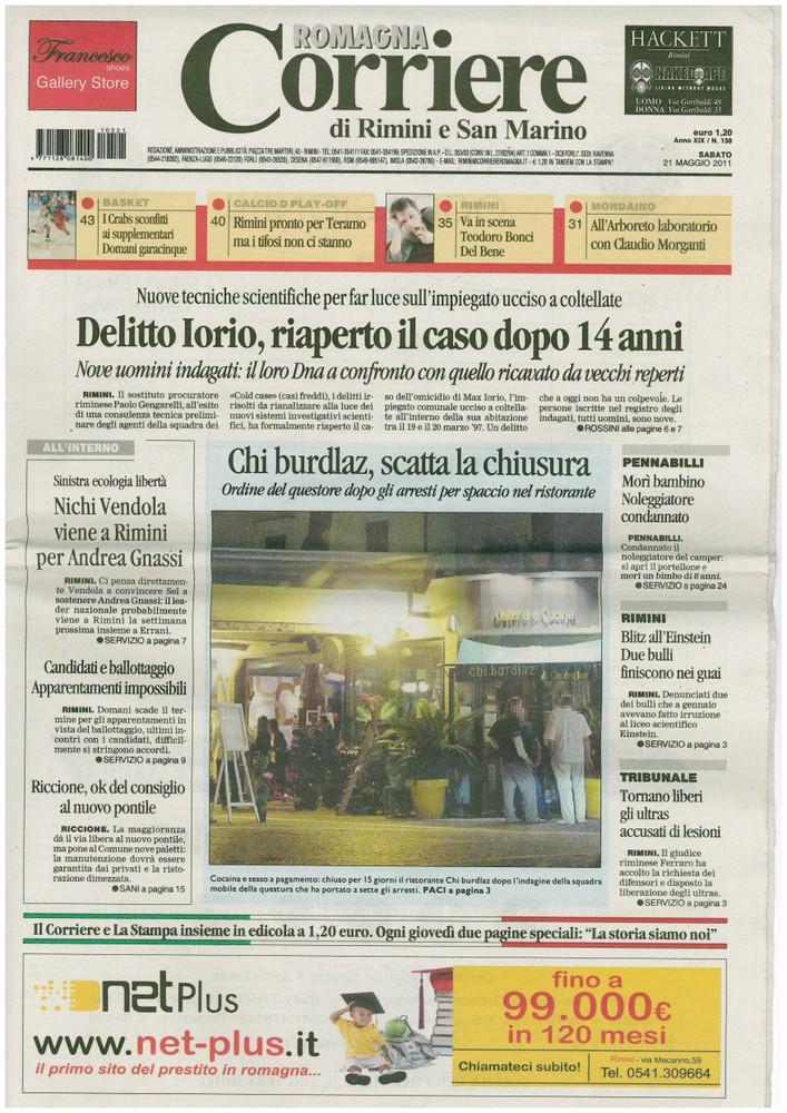 Corriere 2011.05.21 Copertina