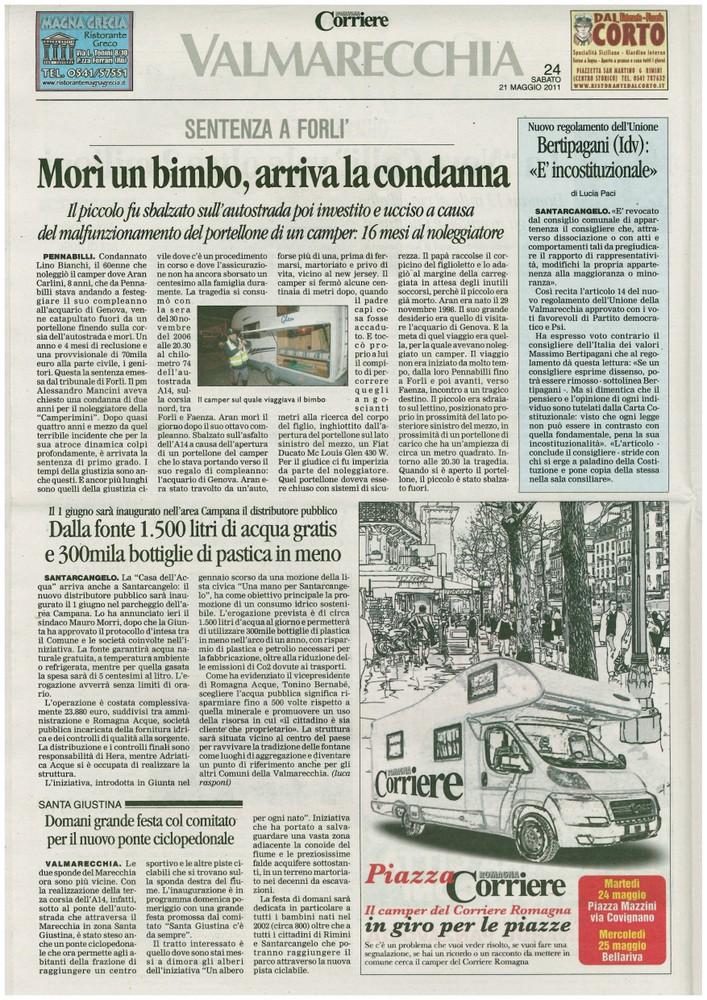 Corriere 2011.05.21 Pagina