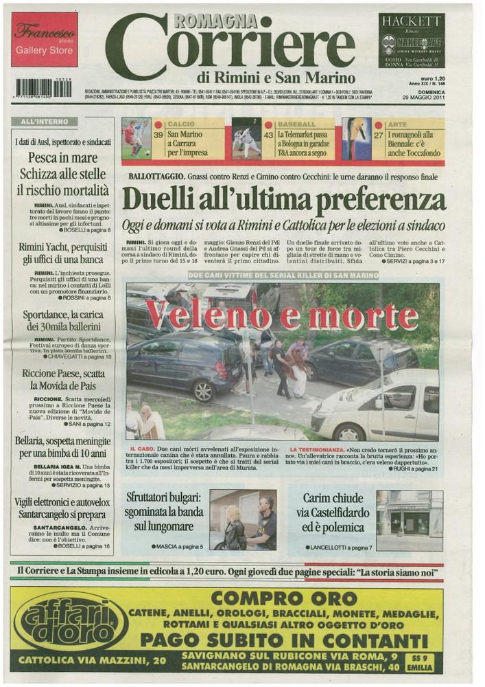 Corriere 2011.05.29 Copertina
