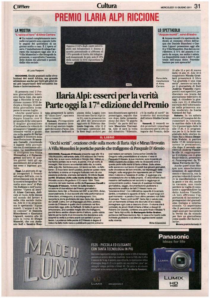 Corriere 2011.06.15 Pagina