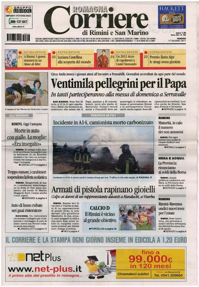 Corriere di Romagna del 17 giugno 2011