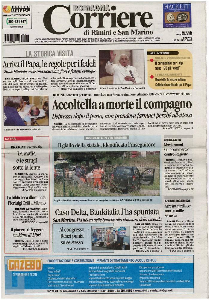 Corriere 2011.06.18 Copertina