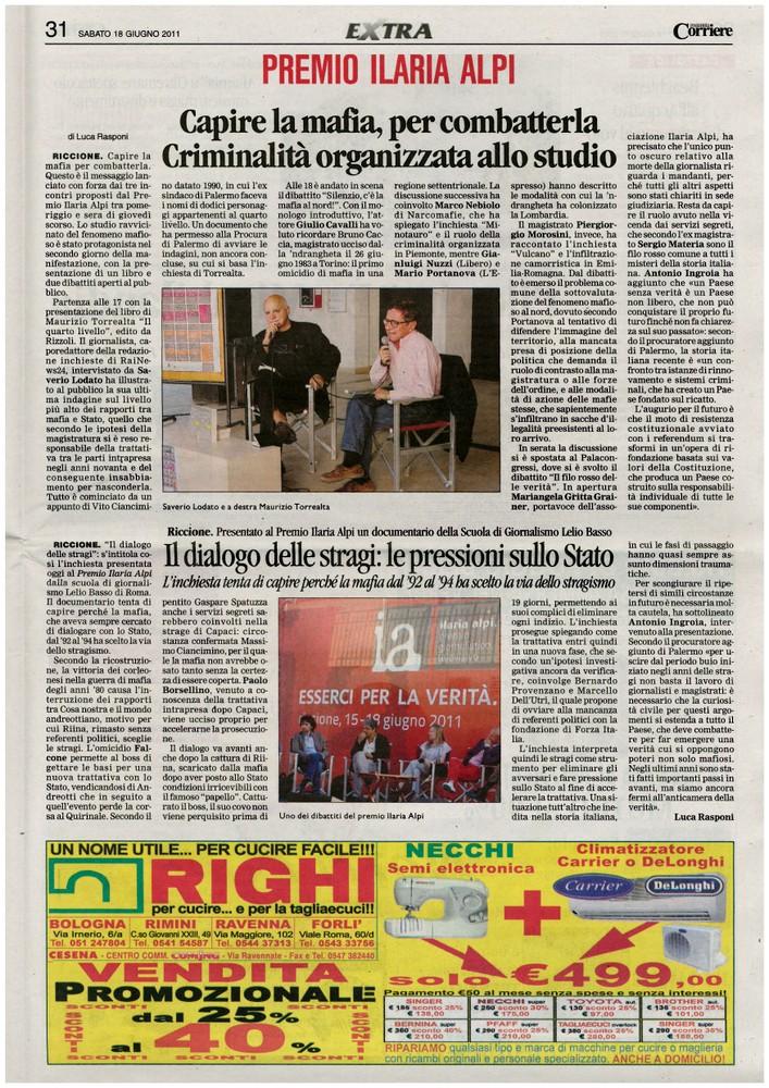 Corriere 2011.06.18 Pagina