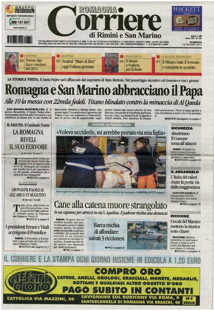 Corriere di Romagna del 19 giugno 2011