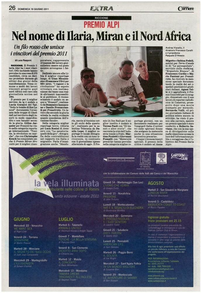 Corriere 2011.06.19 Pagina