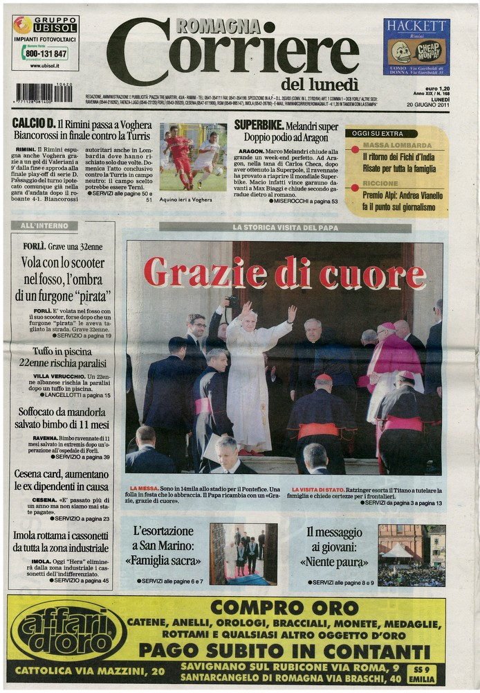 Corriere 2011.06.20 Copertina