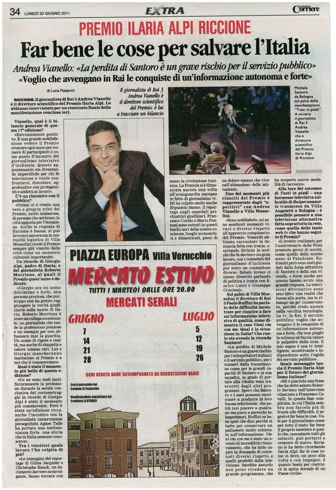 Corriere 2011.06.20 Pagina