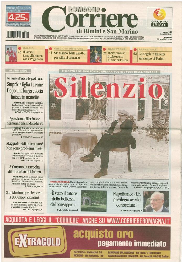 Corriere 2012.03.22 Copertina