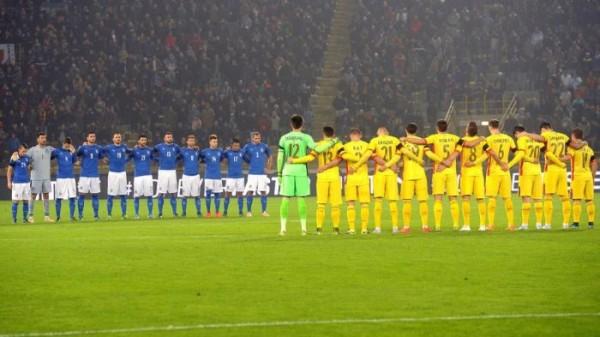 Il minuto di raccoglimento per le vittime di Parigi (foto: Eurosport)