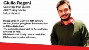 La mobilitazione del web per la scomparsa di Giulio Regeni (foto: Huffington Post)