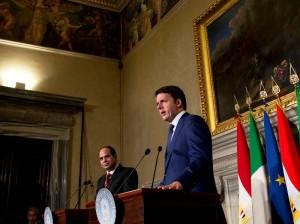 Matteo Renzi e Abd al-Fattah al-Sisi (foto: East Journal)