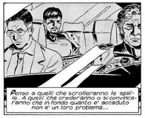 Fumetti contro le mafie: una vignetta da Nathan Never 297