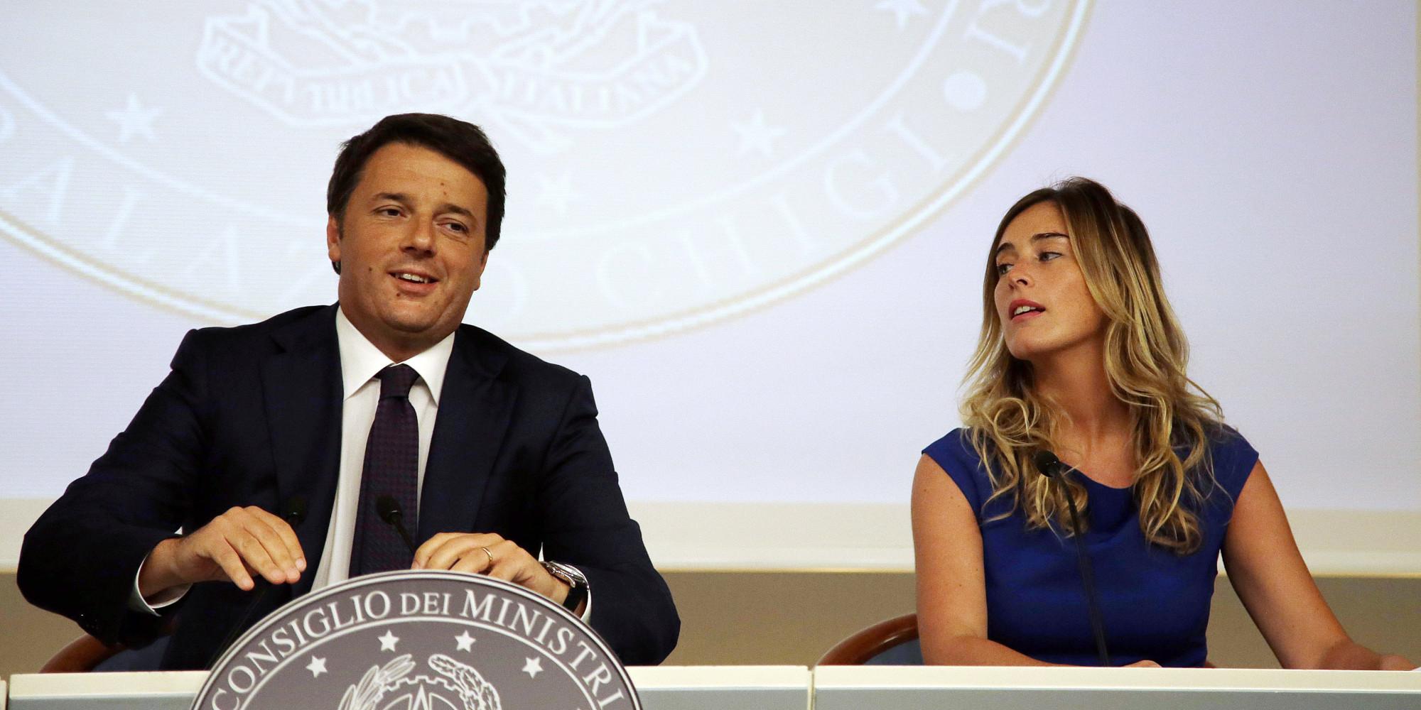 Guida al referendum sulla riforma della Costituzione: Matteo Renzi e Maria Elena Boschi