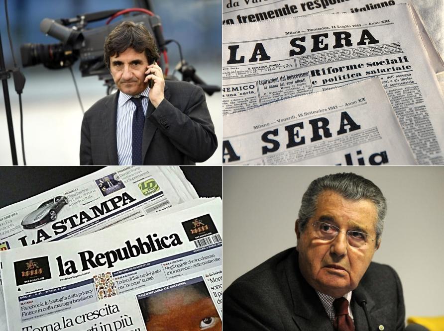 Cairo-Rcs, De Benedetti-Repubblica-Stampa