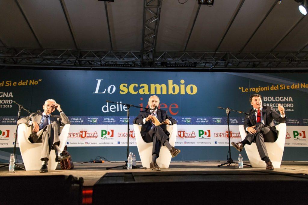 Renzi e Smuraglia, il dibattito alla Festa del Partito Democratico di Bologna