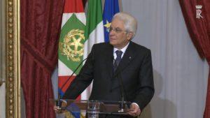 Le conseguenze del referendum: il presidente Sergio Mattarella