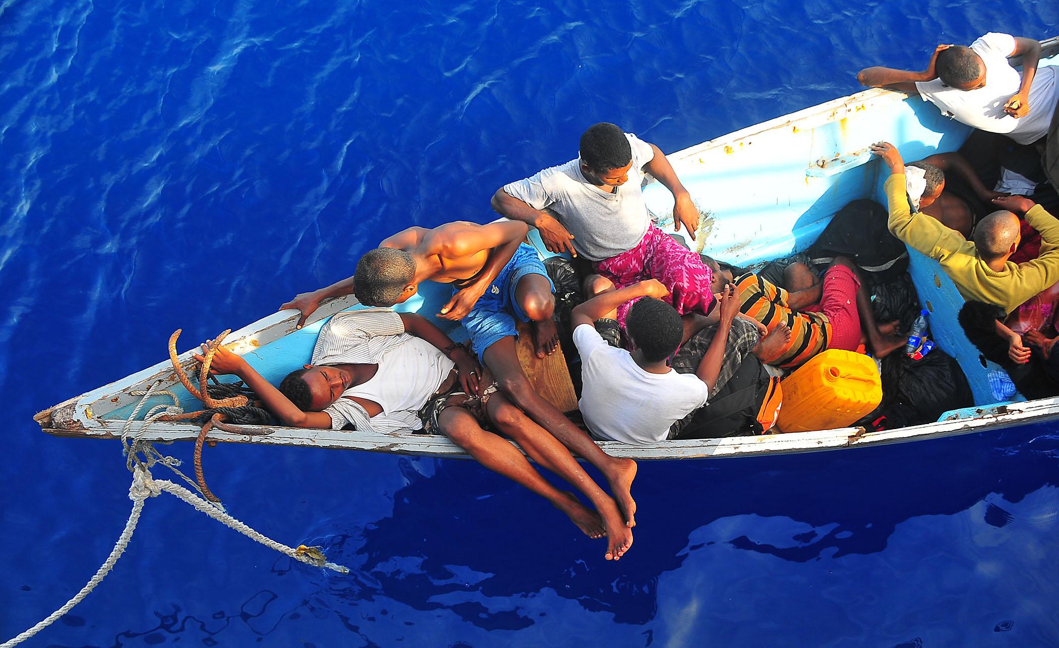 Accordo con la Libia | Migranti somali nel golfo di Aden